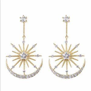 Celestial CZ Crystal Drop Earrings